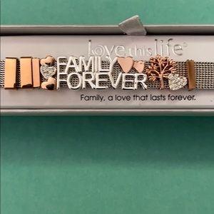 Stainless steel Family Forever Bracelet